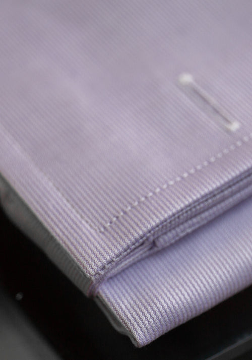 Frank Stella Lilac Stripe French Cuff Dress Shirt - Frank Stella Clothiers