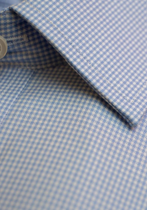Frank Stella Blue Check French Cuff Dress Shirt - Frank Stella Clothiers