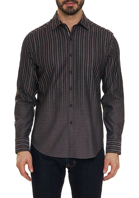 Indigo Plaid Linen Sport Shirt