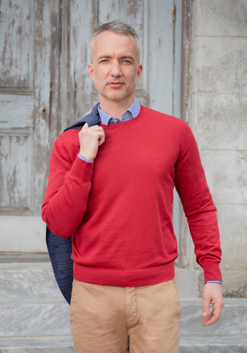 Gran Sasso Fresh Cotton Crewneck Sweater - Frank Stella Clothiers