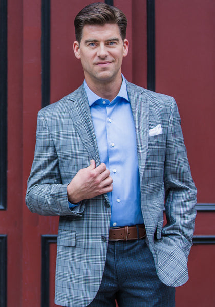 Jack Victor Grey Plaid Sport Coat - Frank Stella Clothiers