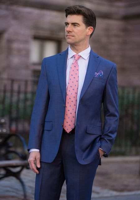 Tailored Fit Pure Cotton Suit