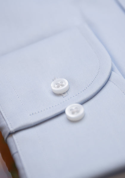 Frank Stella Powder Blue Dress Shirt - Frank Stella Clothiers