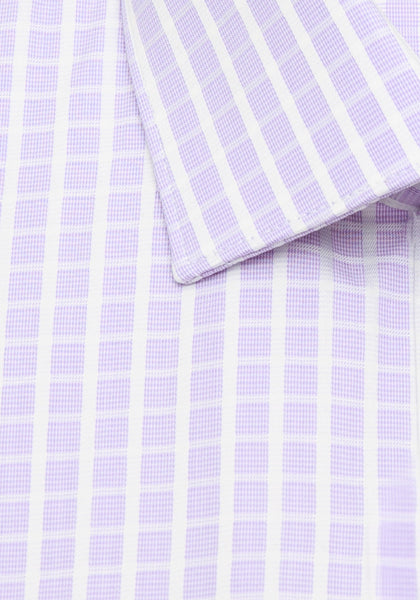 Lilac Windowpane Check Sport Shirt