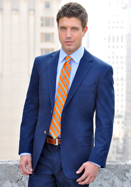 Frank Stella Classic Navy Pure Cotton Suit - Frank Stella Clothiers