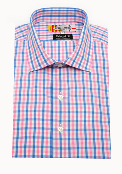 Pink and Blue Check Sport Shirt