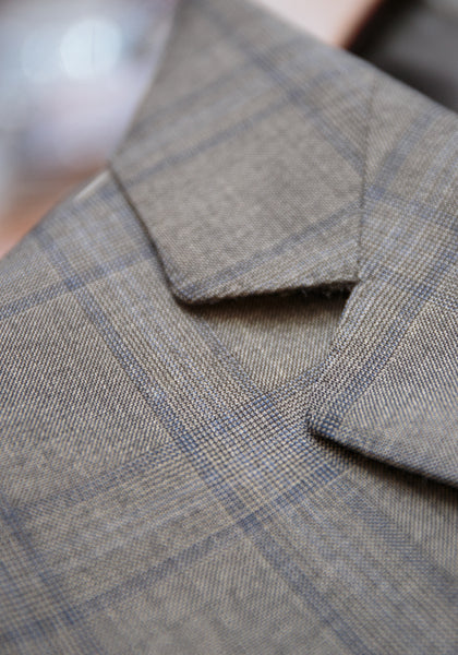 Tailored Fit Grey Windowpane Suit