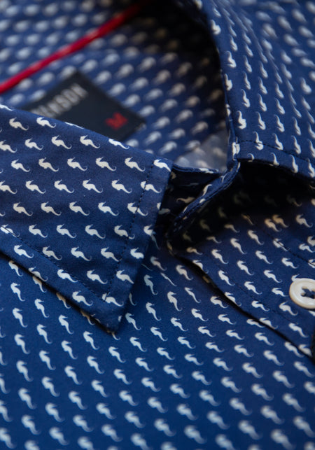 Two Tone Gingham Sport Shirt