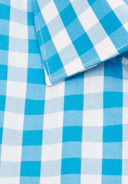 Turquoise Check Sport Shirt
