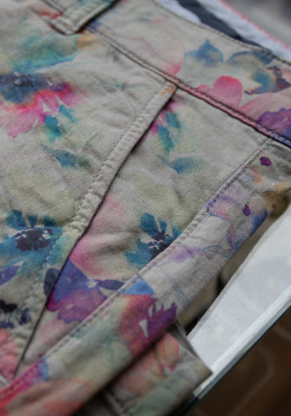 Watercolor Floral Shorts