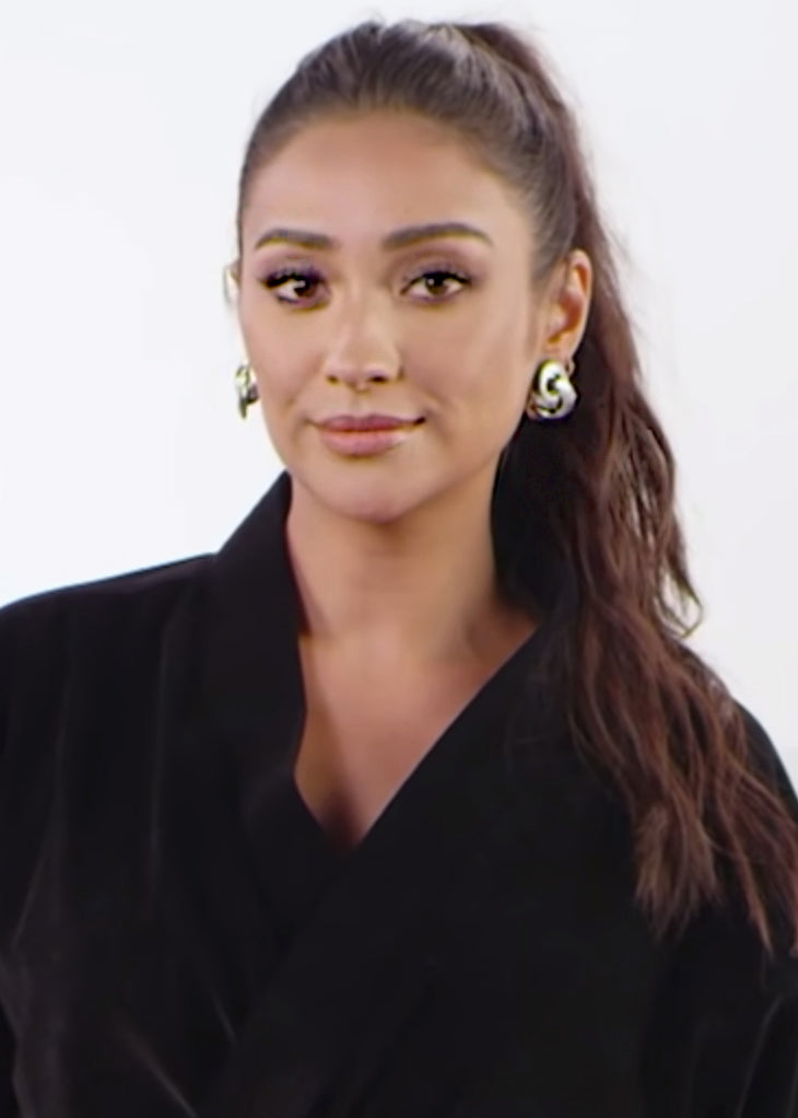 SHAY MITCHELL 'SPILLS IT' IN LOU HOOPS
