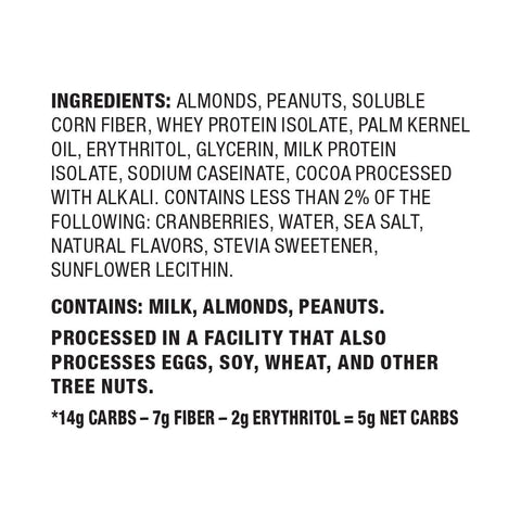 Quest Snack Bar Protein Cranberry Trail Mix Ingredients Nutrition