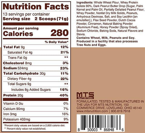MTS Nutrition Outright Pancake Protein Mix Chocolate Peanut Butter
