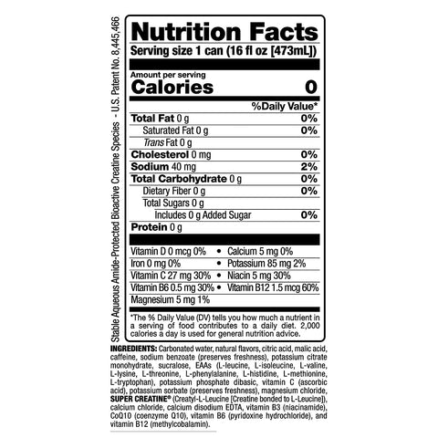 VPX Bang Energy Drink Can Radical Skadattle Energy Drink Nutrition Supplement Label Facts