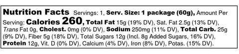 Big Spoon Roasters Apricot Pepita Protein Small Batch Handcrafted Nut Butter Bar Nutrition Label Facts
