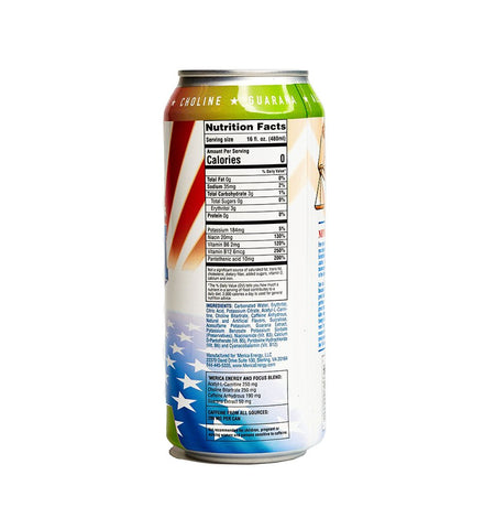 Merica Labz Energy Justice Nutrition Label Facts