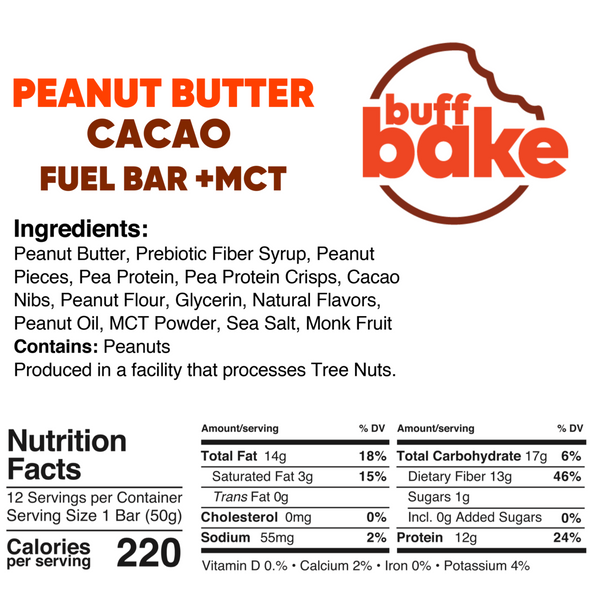 Buff Bake Peanut Butter Cacao Bar