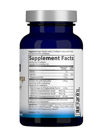 Garden Of Life GOL Advanced Omega Dr. Formulated Fish Oil Supplement Nutrition Label Facts