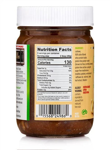 G Butter S'mores New Flavor protein spread nut butter nutrition label facts