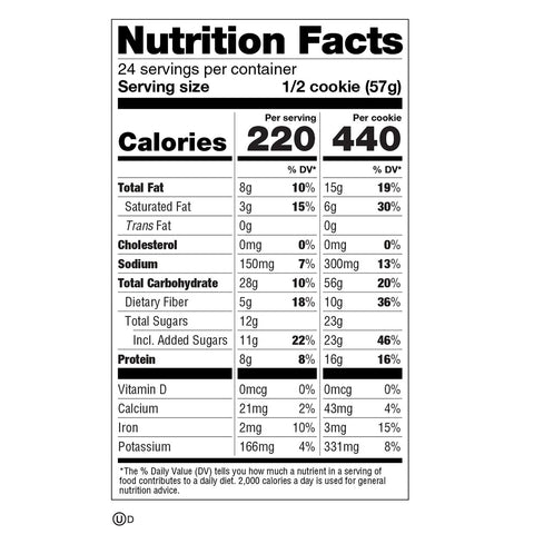 Lenny Larry Complete Cookie Plant Based Protein Gingerbread nutrition label facys