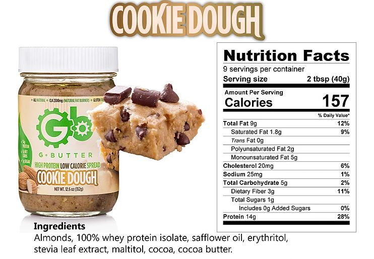 G Butter Cookie Dough Nutrition Facts