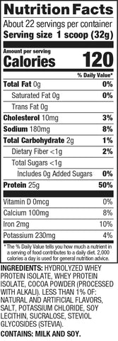 Dymatize iso 100 Cocoa Pebbles Cereal Protein Powder Post Nutrition Supplement Label Facts