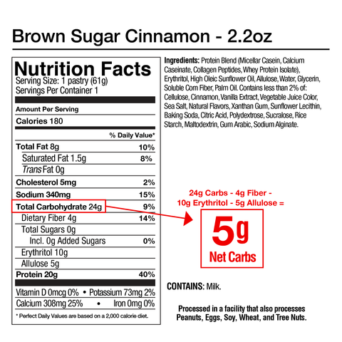 Legendary Foods Tasty Pastry Protein Pop Tart Supplement Nutrition Label Facts