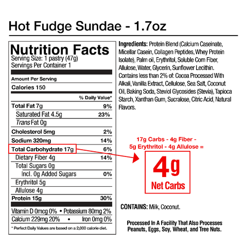 Legendary Foods Tasty Pastry Pop Tart Hot Fudge Sundae Chocolate Nutrition Label Facts