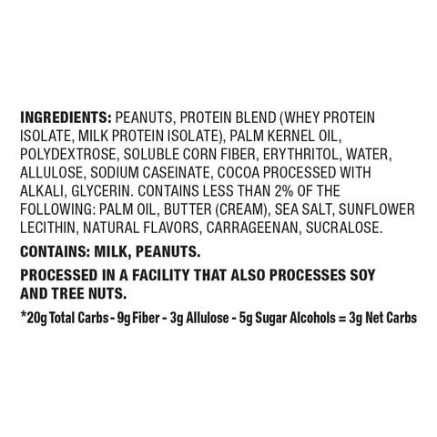 Quest Nutrition Goey Caramel Candy Protein Bar Ingredients