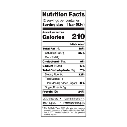 Quest Nutrition Gooey Caramel Candy Protein Bar Nutrition Facts
