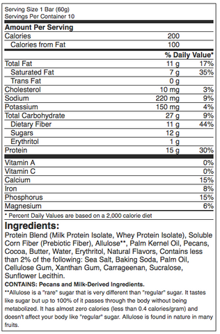 Quest Hero Protein Bars Chocolate Peanut Butter Nutrition Label Facts