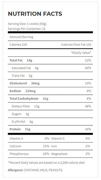 Quest Nutrition Oatmeal Raisin Cookie Nutrition Facts