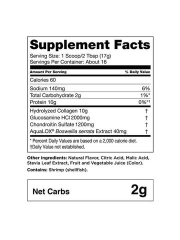 Bulletproof Joint Boost Supplement Facts Collagen