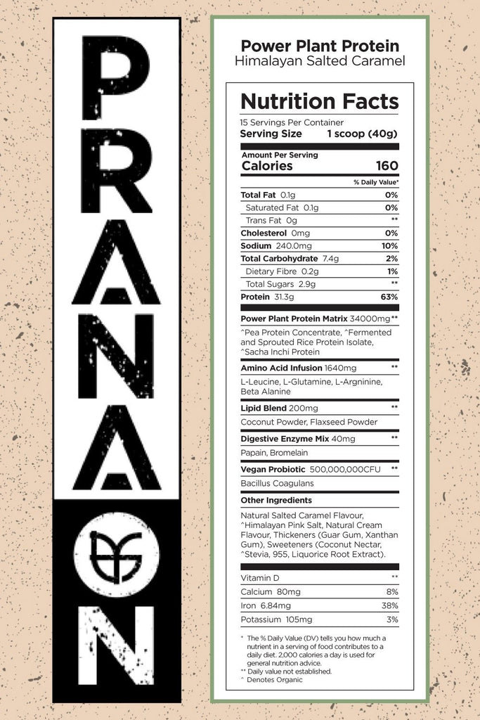 prana on plant protein nutrition facts info