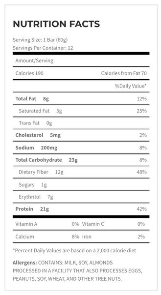 Quest Nutrition Pumpkin Pie Seasonal Nutrition Facts Label