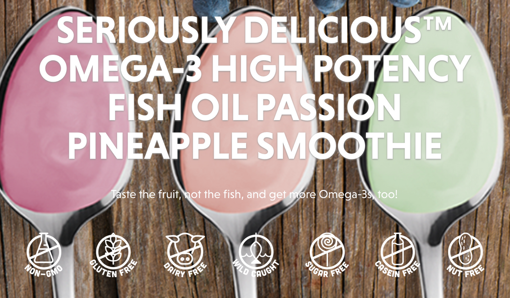 Barleans omega3 high potency fish oil passion pineapple smoothie