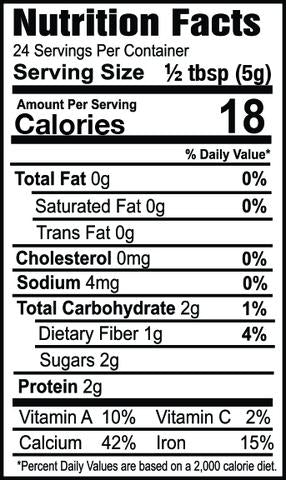 Oh my spice snickerdoodle flavor topper seasoning with protein nutrition label facts ingredients