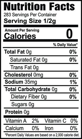 Oh my spice spicy fajita seasoning nutrition label ingredients