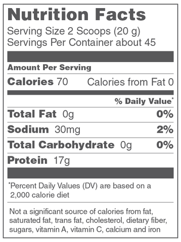 Vital Proteins Beef Gelatin Nutrition Facts