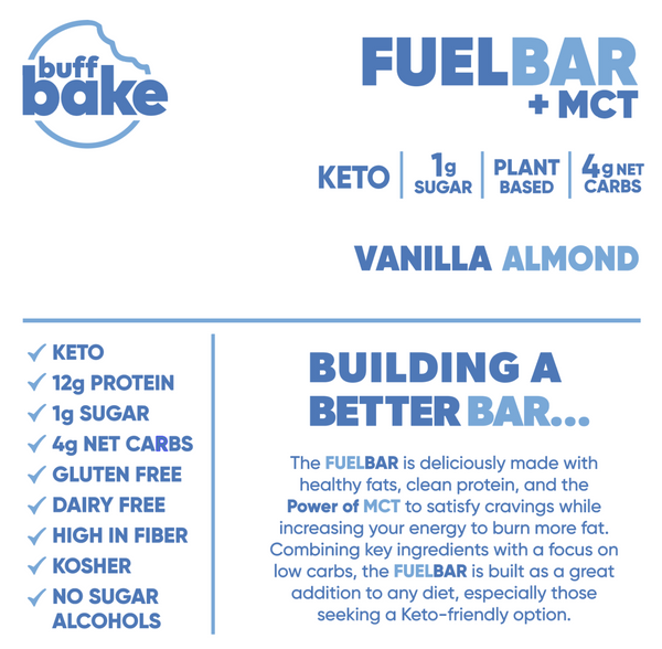 Quest Nutrition Vanilla Almond Fuel Bar Supplemental Facts
