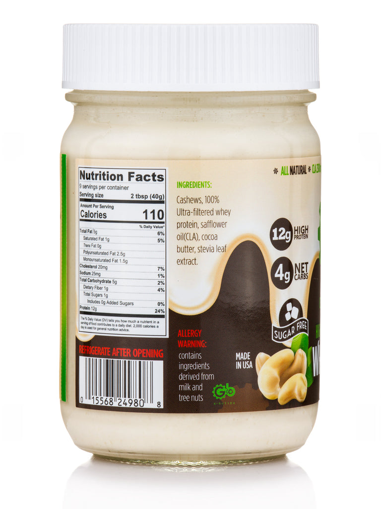 G Butter White chocolate Real Nutrition Facts Label