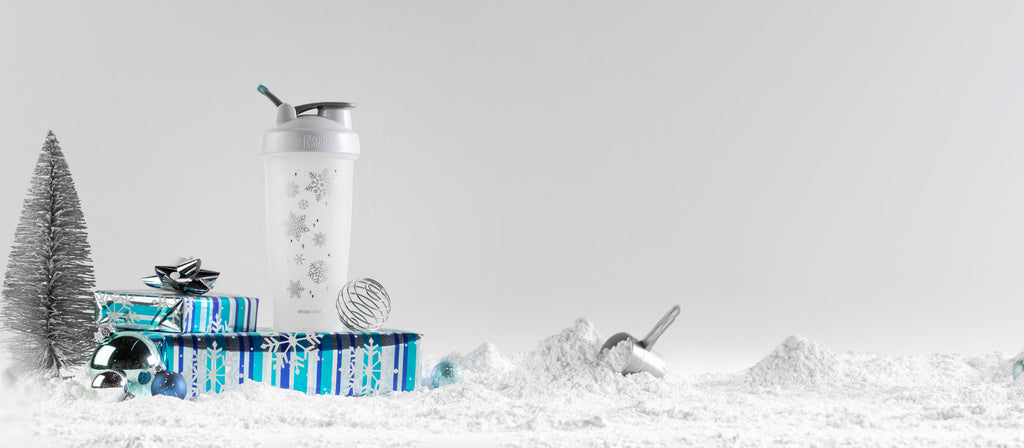 Snowflake Christmas Blender Bottle Fitness Gift Shaker Cup