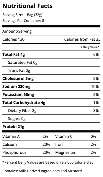 quest bbq protein chips nutrition facts label