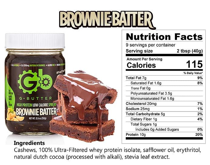 G Butter Brownie Batter Nutrition Facts