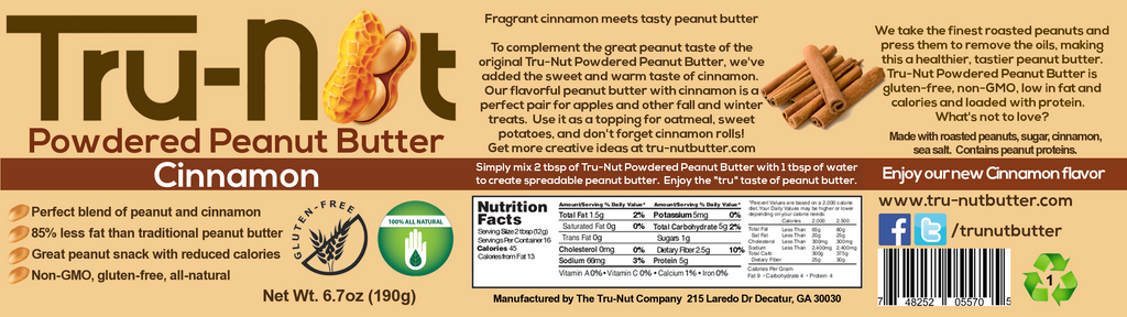 tru-nut cinnamon powdered peanut butter