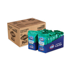 Click to Enlarge     Clorox® Disinfecting Wipes On The Go, Fresh Scent, 7 x 8, 9/Pack, 24 Packs/Carton Item # CLO01665