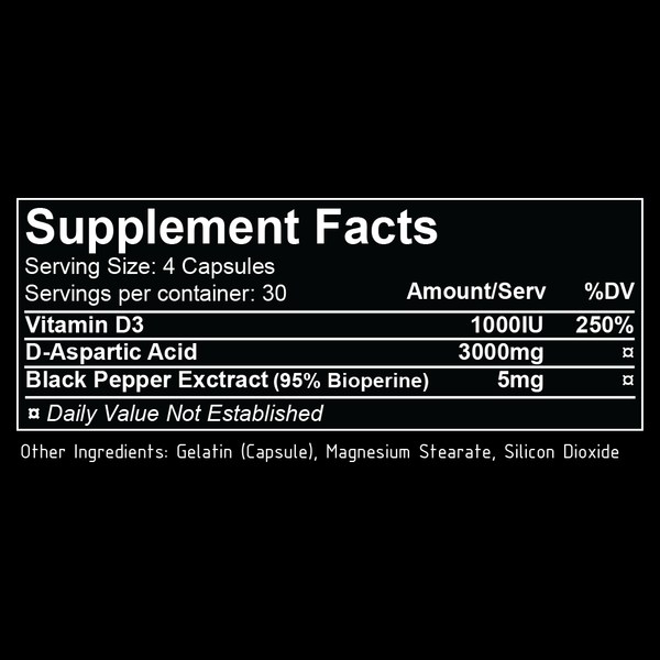 repp sports daa+ supplement facts label