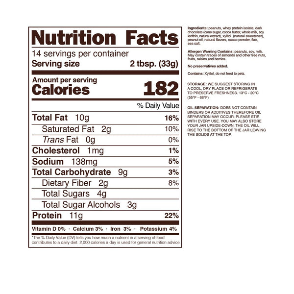 nuts n more dark chocolate nutrition facts info