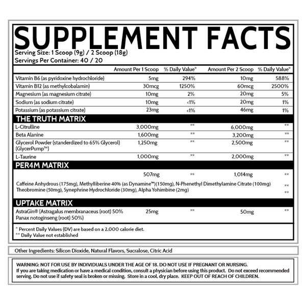 inspired nutra new dvst8 preworkout supplement facts label
