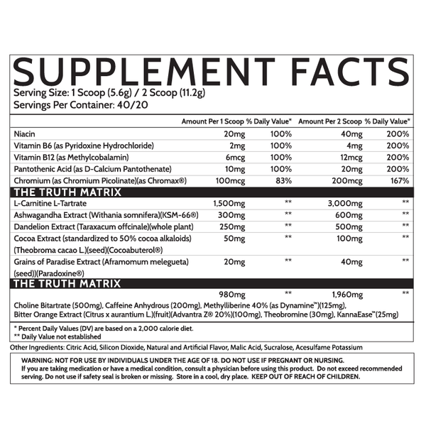 Inspired Nutraceuticals Ember 3mb3r fat burner platinum heat reserve new supplement nutrition label facts